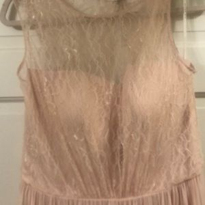 After Six blush formal gown